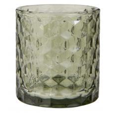 Lygte t/ fyrfadslys grøn glas