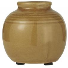 Vase mini m/riller krakeleret glasur