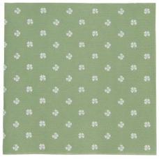 Serviet grøn firkløver