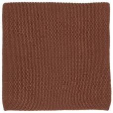 Karklud Mynte rustic brown strikket