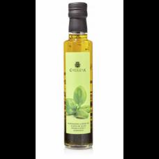 Ekstra jomfru oliven olie med basilikum