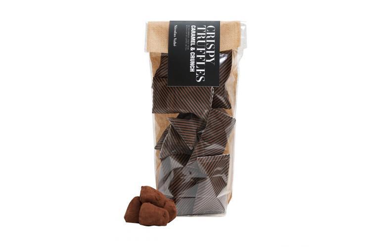 Chokoladetrøffel med karamel og knas